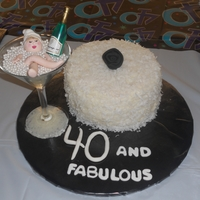 40 And Fabulous!! Coconut cake with coconut icing.