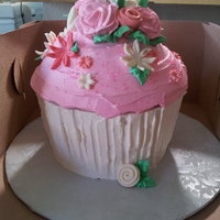 First Birthday Smash Giant Cupcake Mom wanted a pink and white smash cupcake for her daughters photo shoot...this is it!!! super fun and girly