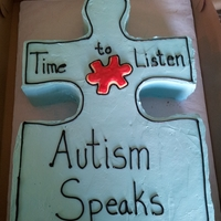 Autism Fundraiser time to learn about autism with this puzzle piece fun cake