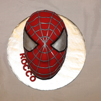 Spiderman   Carved yellow cake.
