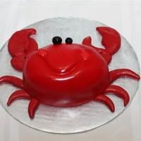 Crab Smash Cake   Carved crab for 1st birthday smash cake. Legs and claws modeling chocolate. TFL