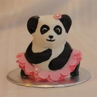 Ballerina Panda  Amanda, one of my 5 year old twins couldn't decide if she wanted a panda cake or a ballerina cake... So we put a tutu on a panda. She...