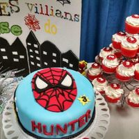 Hunter's 3Rd Birthday   Spider-Man cake and cupcakes for my grand-son.