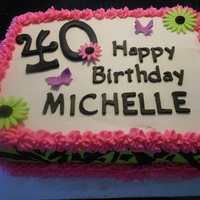 Michelles 40Th Birthday Cake Orange cake with raspberry filling.