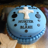 Hunter And Blake Baptism   Made for two cousins being baptized at same time, one was my grandson.