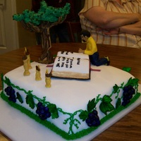 Pastor's Ordination Cake All of the decorations are hand sculpted and edible