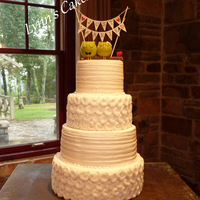 Rustic Buttercream Brides Cake Rustic buttercream brides cake