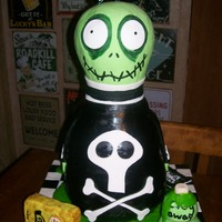 Tim Burton's Roy The Toxic Boy Cake This is my cake version of Tim Burton's Roy the Toxic Boy...