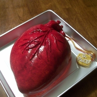 Heart With Pacemaker Cake