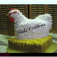 Cochin Chicken Takes The Cake! A replica of a Cochin chicken was made to celebrate the birthday of a gentleman who breeds and shows his Cochin chickens! Said the customer...