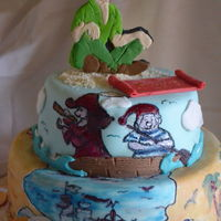 Peter Pan Cake Handmade Painting Peter pan cakeHandmade painting