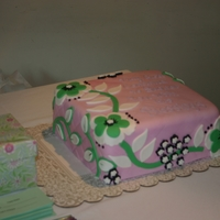 Ver Bradley Hemed Cake This cake was made for a bridal shower the bride loves Vera Bradley