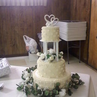 Simply Ivory Ivory wedding cake with flowers