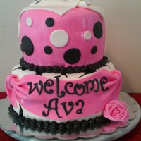 Zebra Baby Shower Cake