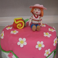 Strawberry Shortcake Birthday All edible.... fondant finish and gumpaste accents