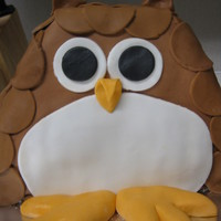 Owl Birthday Three layer owl birthday cake