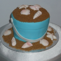 Sand Bucket This cake was for a beach themed pool party