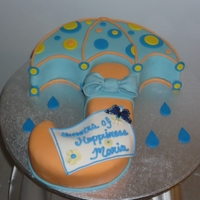 Bridal Shower Umbrella Cake for a Bridal Shower