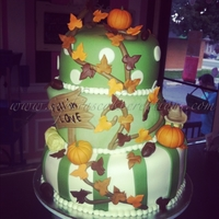 Fall In Love Fall inspired topsy turvy wedding cake