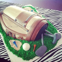 Golf Bag Grooms Cake Had a blast with this cake!!!