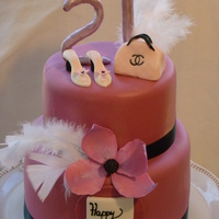21St 21st diva cake all fondant except feathers
