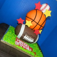 All Sports Birthday Cake   All Sports Birthday Cake