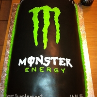 Monster Can Groom Cake Chocolate Cake with Chocolate MMF