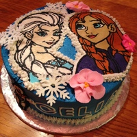 Frozen Cake In Buttercream And Royal Icing Frozen cake in buttercream and royal icing.