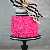 Super Bow With Super Pink Cake A bow is never big enough but if also has hot pink it becomes a perfect cake for a fashionista. I love bows and I love pink so I enjoyed a...