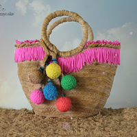 Beach Basket Bag Cake  Summer is hereeeee!!! beach, sun, cold wine and a must to have, a nice beach basket bag. My dear friend Sarah asked me for a cake for her...