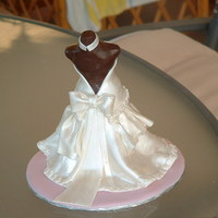 Topper For Cake dress made from mexican paste and body from modelling paste-painted with pearl lustre!