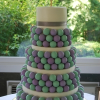"Cake Pop ""cake""   300 Cake Pop Wedding ""Cake"" with small cutting cake on top"
