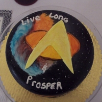 Star Trek Cake   Live Long and Prosper