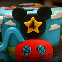 Mickey Mouse Club House diabetic chocolate cake with fondant