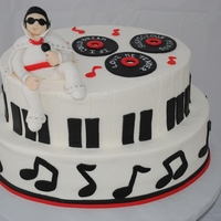 Elvis Cake Groom's cake for a man who loved Elvis. Iced in buttercream with all fondant accents. Elvis is made out of fondant. Records are...