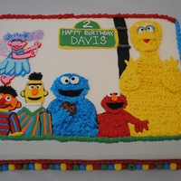 Sesame Street Cake Cake is all butercream and all characters are hand drawn. Took a while, but fun to make and I was very happy with how it turned out.