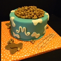 Puppy Chow Dog bowl cake for a vet tech birthday