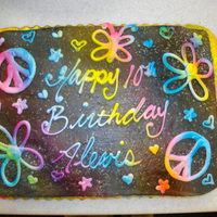 Buttercream1St I Airbrushed The Whole Cake Black Then Piped On All The Details In White Lastly Airbrused Rainbow Style Over The Top buttercream......1st I airbrushed the whole cake black then piped on all the details in white, lastly airbrused rainbow style over the top...