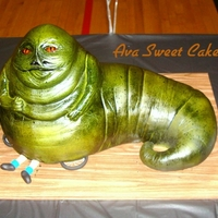 Jabba The Hut This cake was for my husband's 40th birthday. Yes I realize that Jabba was more brown than green, oops!