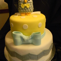 Yellow And Gray Owl Baby Shower