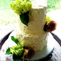 Vinyard Wedding  I made this cake for my friend's wedding. It was an outdoor wedding at a vineyard. When she told me that I automatically thought of a...