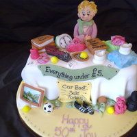 Car Boot Sale Cake This cake was made for a lady who loves car boot sales.