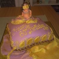 Belly Dancing Themed Cake This was done for my friends' mum for her 60th birthday, she loves belly dancing!