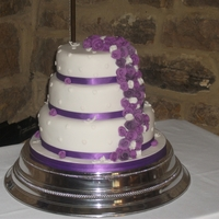My Son And New Daughter-In -Laws Wedding Cake 3 tier round fruit cake