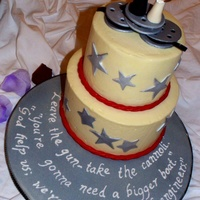 Groom's Cake, Movies, Film. Groom's cake for my nephew. I included quotes from his 3 favorite movies on the board. Cake topper inspired by the fabulously talented...