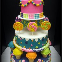 Sweet Shoppe First Birthday Cake I made this cake for a 1st birthday. The mom brought me the picture of the cover of the 2012 Wilton Yearbook. This was my 3rd attempt at...