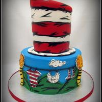 Dr. Seuss Baby Shower I made this cake for a Dr. Seuss themed baby shower! Painting all the little details was very time consuming, but relaxing at the same time...