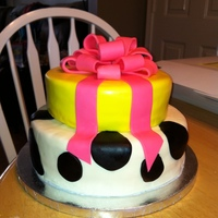 Fondant Cow Print Cake Fondant cow print and bow
