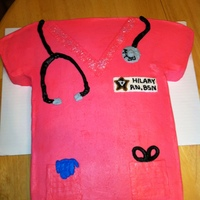 Nurse Scrub Top Buttercream scrub top, fondant stethoscope and scissor handles