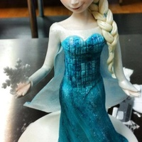 Elsa This is my latest piece of sugar art, Elsa from Frozen. She is 100% hand sculpted from gumpaste & wafer paper, no moulds were used...